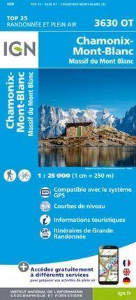 3630 OT CHAMONIX MASSIF MONT BLANC 1:25.000 -IGN