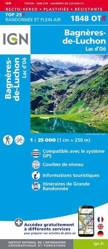 1848 OTR BAGNERES-DE-LUCHON 1:25.000 *