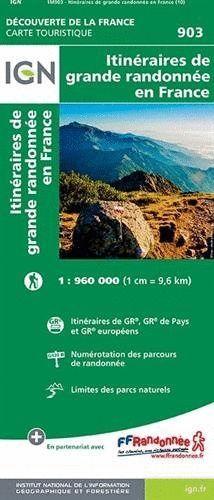 903 ITINERAIRES DE GRANDE RANDONNEE FRANCE 1:1.000