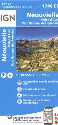 1748 ET NEOUVIELLE-VALLEE D'AURE 1:25.000