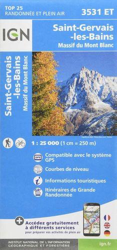 3531 ET SAINT-GERVAIS-LES-BAINS 1:25.000
