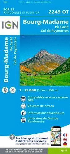 2249 OT BOURG-MADAME PIC CARLIT 1:25.000