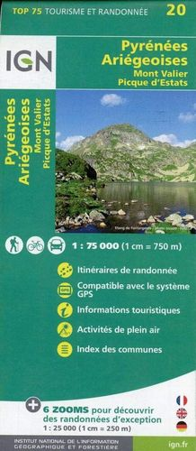 75020 PYRENEES ARIEGEOISES 1:75.000 *