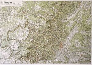 CEVENNES - GORGES TARN ET ARDECHE (RELIEF - RELIEVE) 1/110 000 *