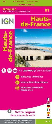 01 HAUTS-DE-FRANCE 1:250.000