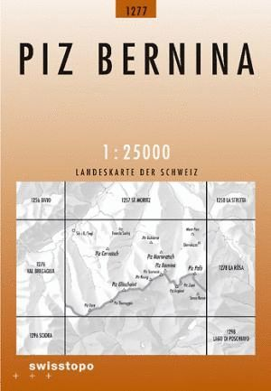 1277 PIZ BERNINA 1:25,000