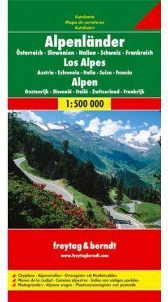 ALPES - ALPS - ALPENLANDER 1:500.000 *