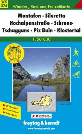 WK 374  MONTAFON - SILVRETTA - HOCHALPENSTRASE (AUSTRIA) E. 1:50,000