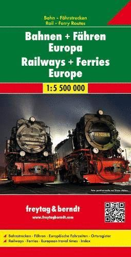 RAILWAYS + FERRIES EUROPE/ FERROCARRILES Y FERRIES DE EUROPA 1:5.500.000 *