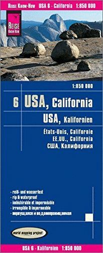 USA6: CALIFORNIA - KALIFORNIEN 1:850.000 *