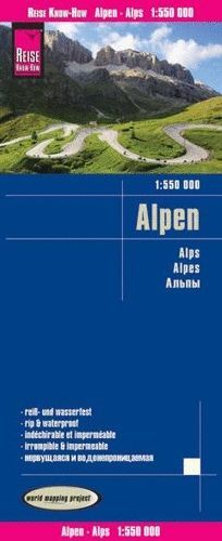 ALPES ALPEN ALPS  1:550.000 IMPERMEABLE *