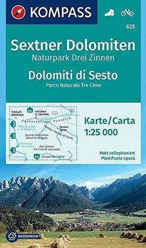 625 DOLOMITI DI SESTAO - SEXTNER DOLOMITEN 1:25.000 *