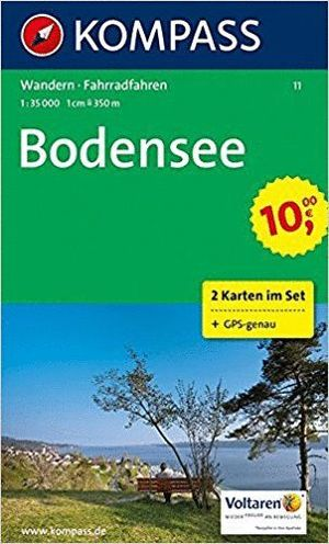 11 BODENSEE 2 MAPS 1:35.000