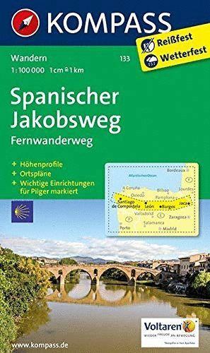 133 SPANISCHER JAKOBSWEG 1:100.000 *