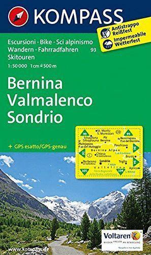 93 BERNINA VALMALENCO SONDRIO. E.1:50,000