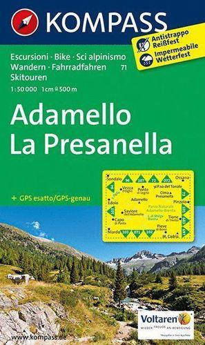 71 ADAMELLO - LA PRESANELLA 1 : 50 000