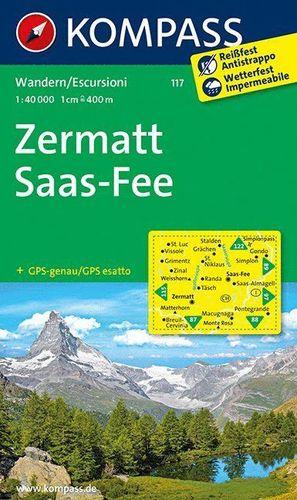 117 ZERMATT - SAAS FEE E.1:40,000 *