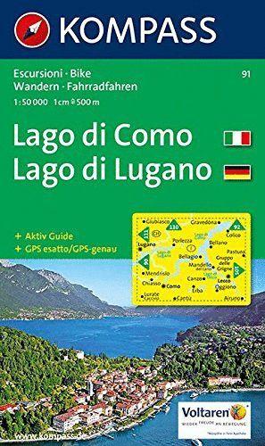 91 LAGO DI COMO/LAGO DI LUGANO (ESCALA 1/50.000) *