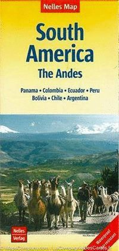 SOUTH AMERICA THE ANDES - SUDAMERICA 1:4.500.000 *