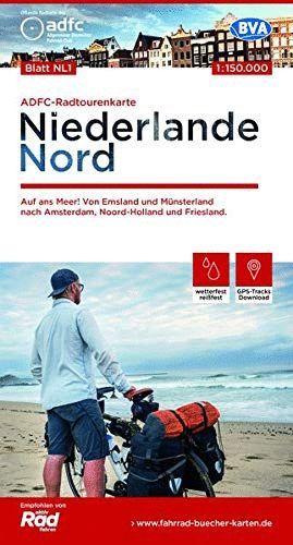 ADFC-RADTOURENKARTE NL 1 NIEDERLANDE NORD, (MAPA NORTE HOLANDA)1:150.000: *