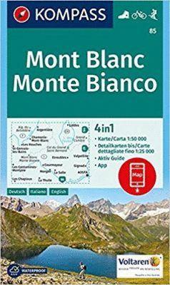 85 MONT BLANC MONTE BIANCO 1:50.000 *
