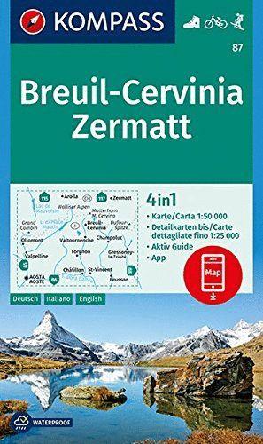 87 BREUIL - CERVINIA - ZERMATT 1:50.000