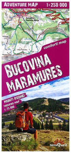 BUCOVINA, MARAMURE MONTAÑAS DE RUMANIA 1:75,000 1:250,000 *