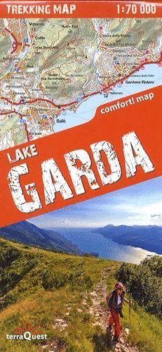 LAKE GARDA / LAGO DE GARDA  1:70,000 *