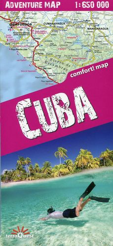CUBA 1:650.000 PLASTIFICADO *