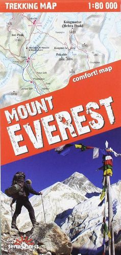 MOUNT EVEREST - MONTE EVEREST 1:80,000 *
