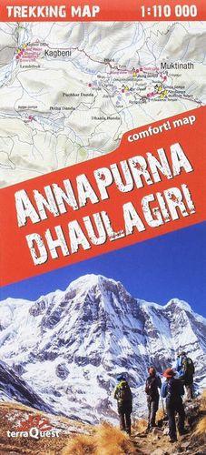 ANNAPURNA & DHAULAGIRI 1:110,000 (TREKKING MAP) *