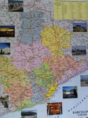 BARCELONA [MURAL ] MAPA COMARCAL DE CARRETERES [1:200.000] *