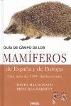 GUÍA DE CAMPO DE LOS MAMÍFEROS DE ESPAÑA Y DE EUROPA