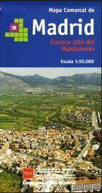 MAPA COMARCAL DE MADRID 2.  1:50,000