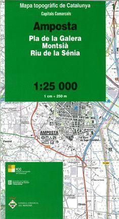 01 AMPOSTA  (PLA DE LA GALERA, MONTSIÀ, RIU DE LA SÉNIA)   1:25.000  *