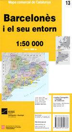 MAPA BARCELONÉS I EL SEU ENTORN 1:50.000