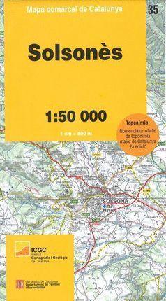 35 SOLSONES 1:50.000 -MAPA COMARCAL *