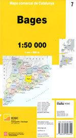 BAGES - 07. MAPA COMARCAL DE CATALUNYA (1:50.000)