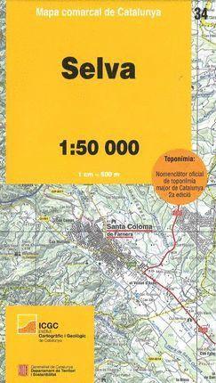 SELVA - 34 MAPA COMARCAL DE CATALUNYA (1:50.000) *