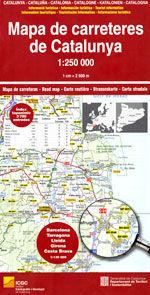 MAPA DE CARRETERES DE CATALUNYA [MURAL]  (1:250.000) -2018