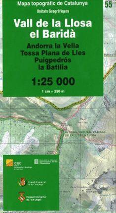 55 VALL DE LA LLOSA, EL BARIDÀ 1:25,000
