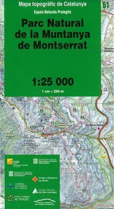 51 PARC NATURAL DE LA MUNTANYA DE MONTSERRAT 1:25.000 *
