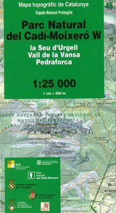 45 PARC NATURAL DEL CADÍ-MOIXERÓ W 1:25 000  *