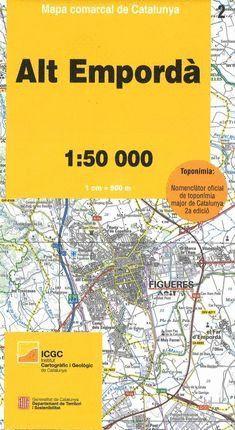 02 ALT EMPORDÀ  MAPA COMARCAL DE CATALUNYA 1:50.000 *