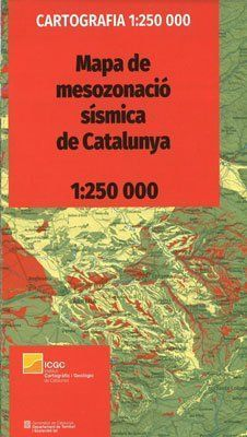 MAPA DE MESOZONACIÓ SÍSMICA DE CATALUNYA 1:250 000