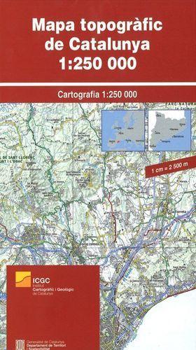 MAPA TOPOGRÀFIC DE CATALUNYA 1:250.000 (MURAL)