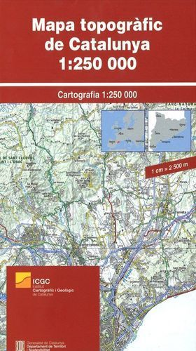 MAPA TOPOGRAFIC DE CATALUNYA [PLEGAT]  1:250.000