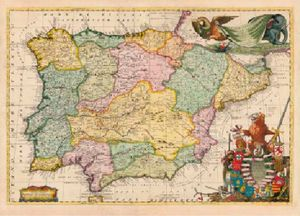 MAPA DE ESPAÑA (CORONELLI 1691) *