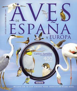 ATLAS ILUSTRADO DE LAS AVES DE ESPAÑA Y EUROPA CON CD *