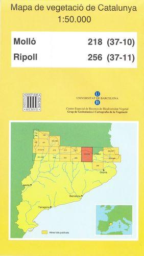MAPA DE VEGETACIÓ DE CATALUNYA, E 1:50.000 . MOLLÓ 218 (37-10), RIPOLL 256 (37-11) *